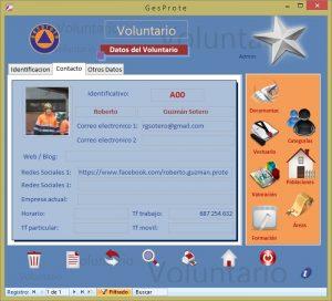 Voluntario - Datos de Contacto